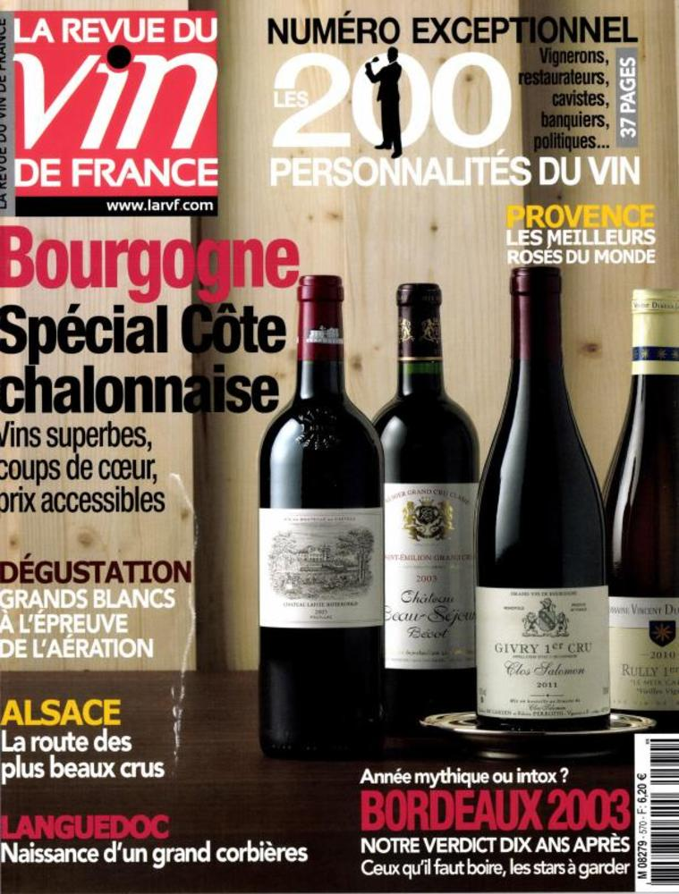 La revue du vin de France N° 571 Avril 2013