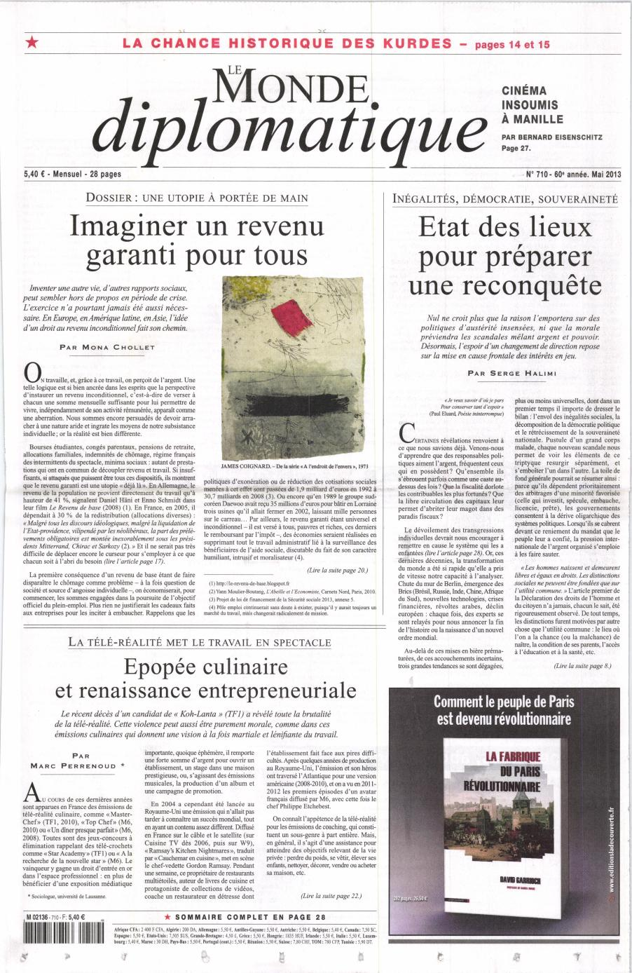 Le Monde Diplomatique N° 710 Avril 2013